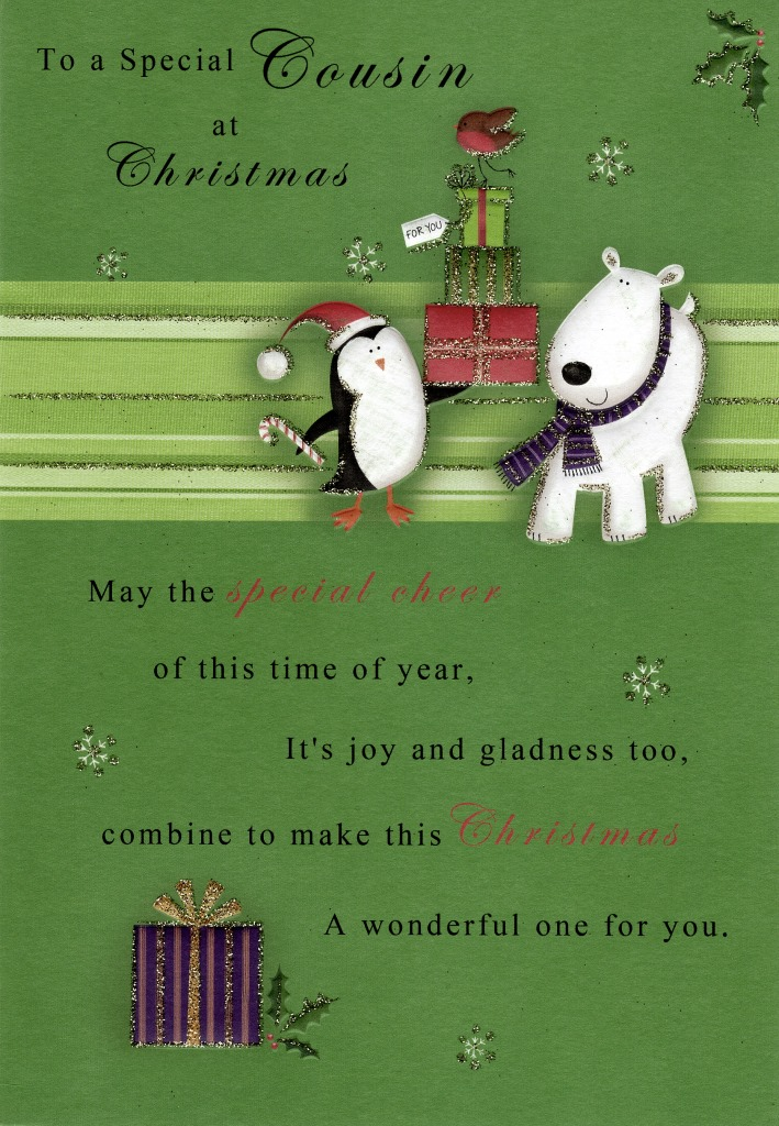 To A Special Cousin Christmas Greeting Card Cards Love