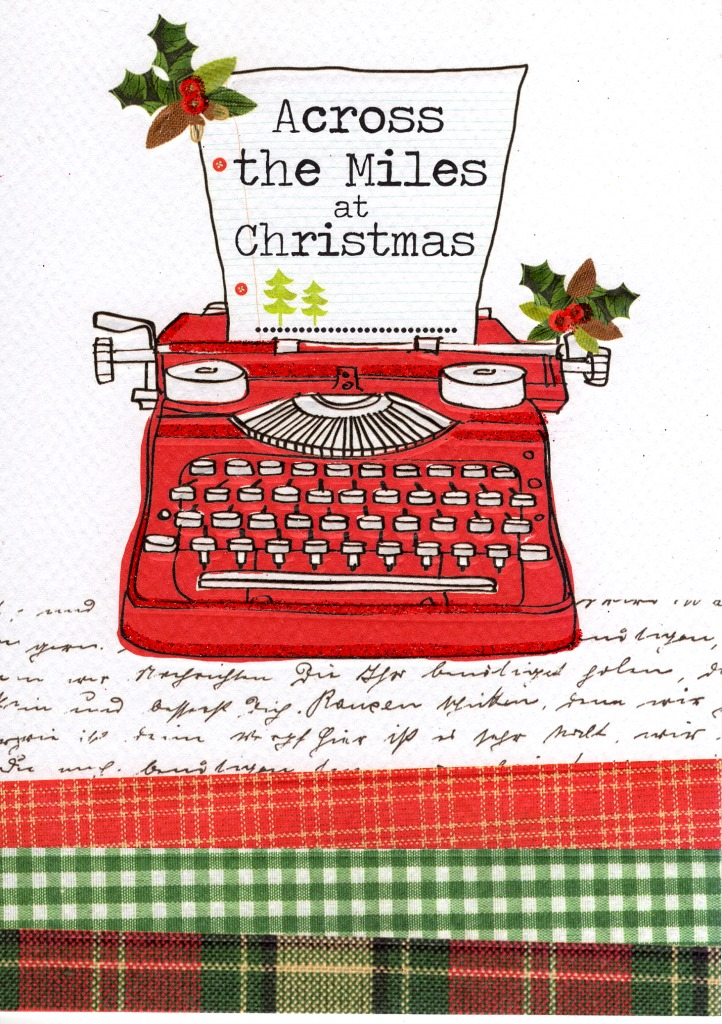 Across The Miles At Christmas Greeting Card Cards Love