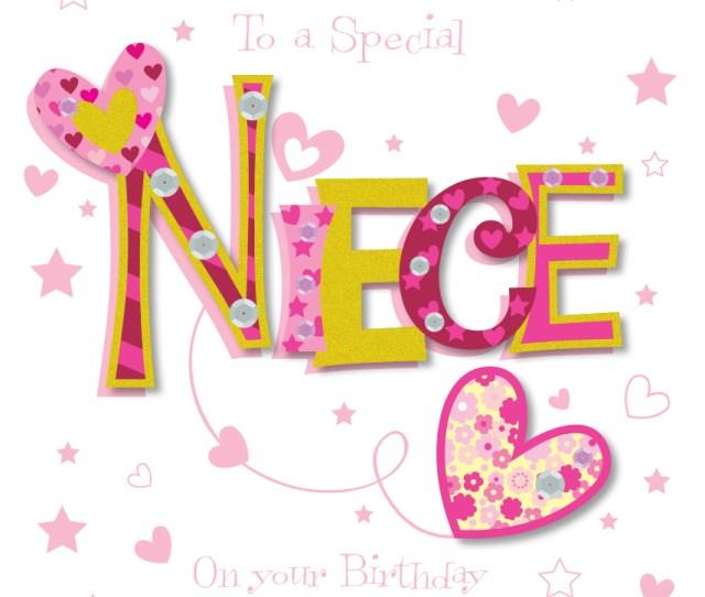 Special Niece Happy Birthday Greeting Card