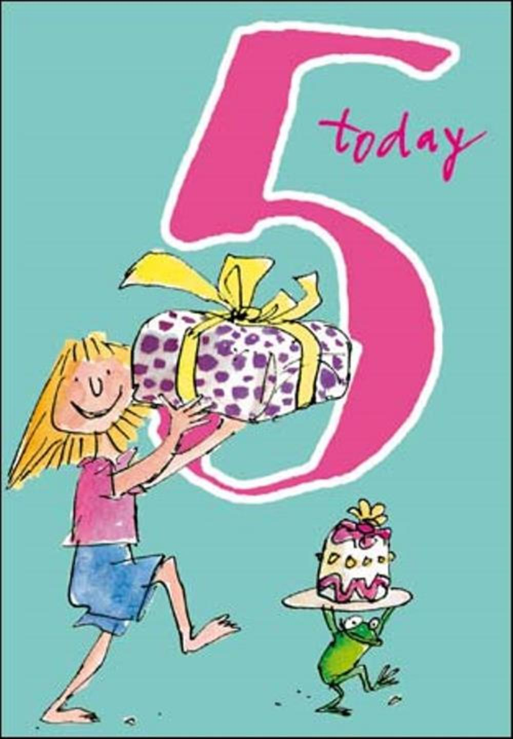 Quentin Blake Girls 5th Birthday Greeting Card Cards Love Kates