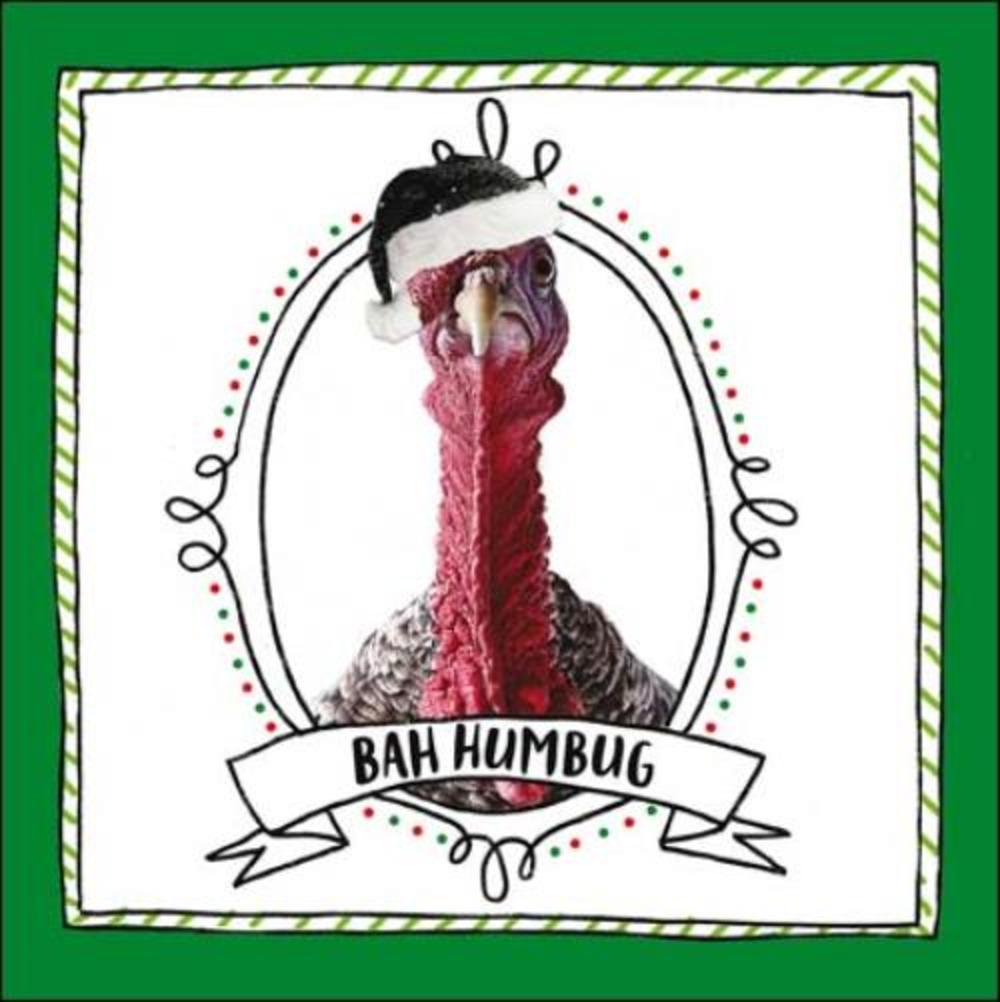 Bah Humbug Christmas Turkey Greeting Card Cards Love Kates
