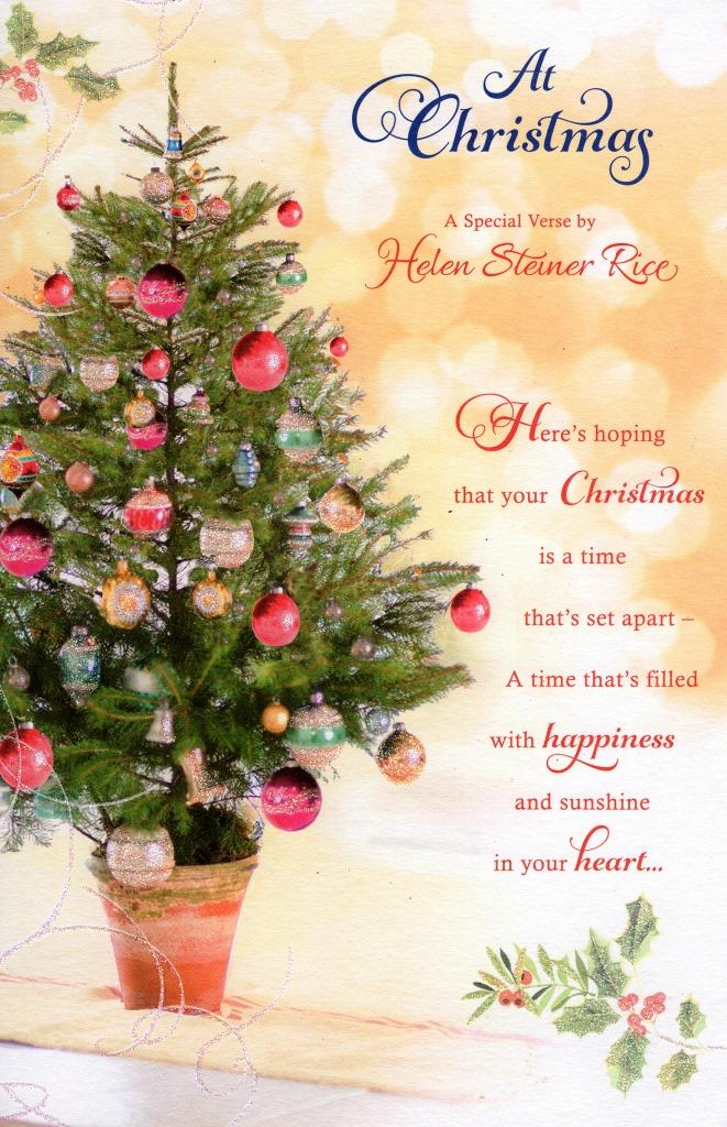 Helen Steiner Rice Christmas Greeting Card Lovely Verse