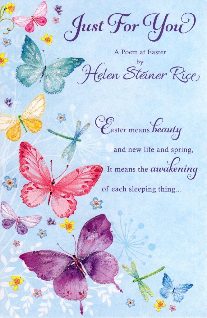 Helen Steiner Rice Just For You Easter Greeting Card Cards