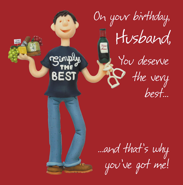 Husband Birthday Greeting Card One Lump Or Two Cards