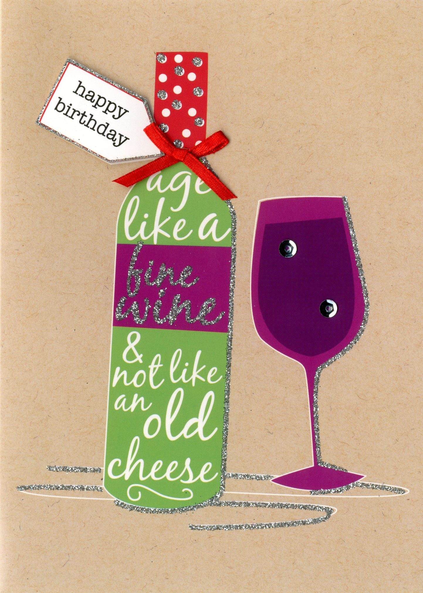 Happy Birthday Fine Wine Greeting Card Second Nature Yours