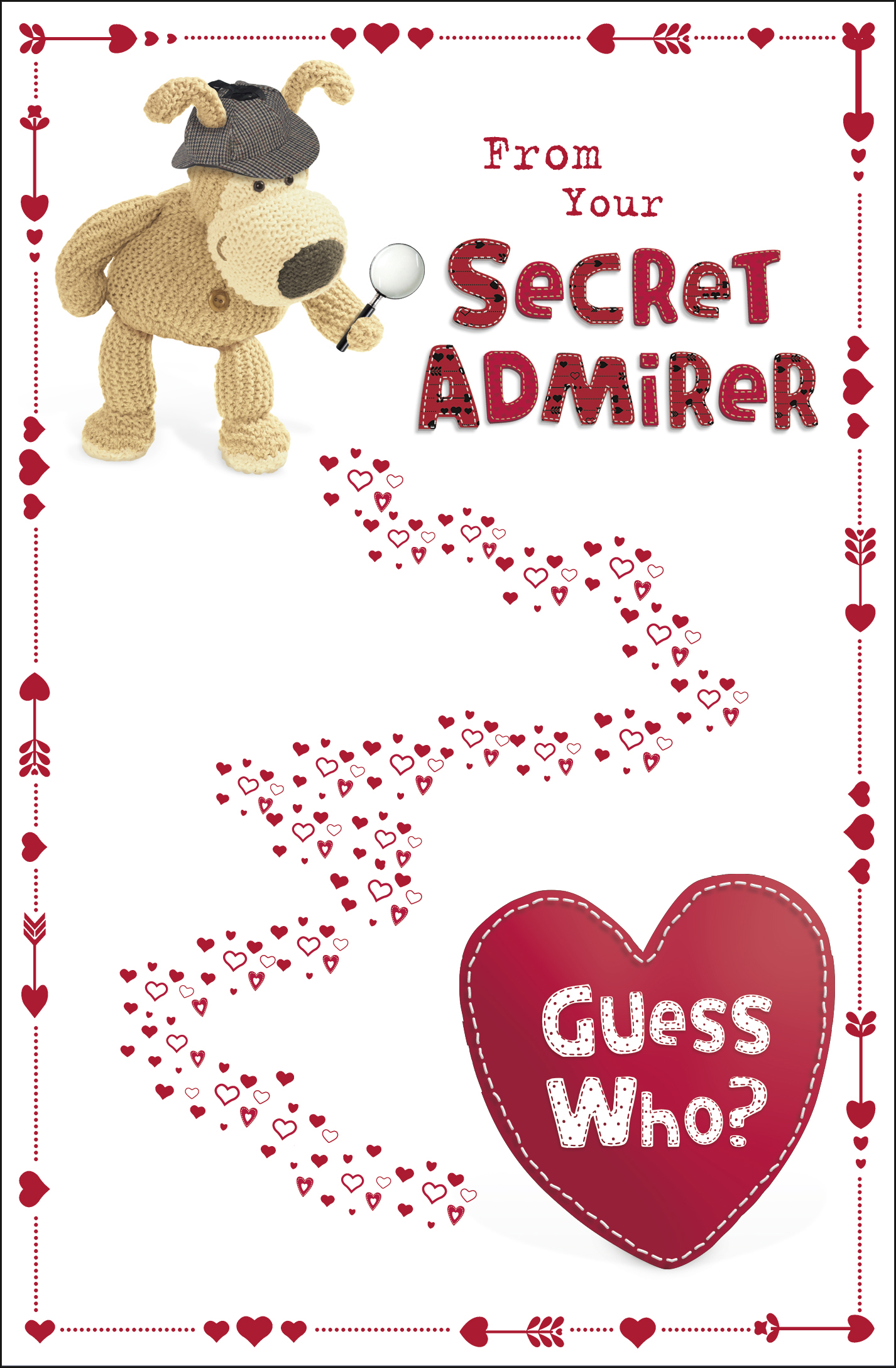 Boofle From Your Secret Admirer Valentine S Day Card Cute