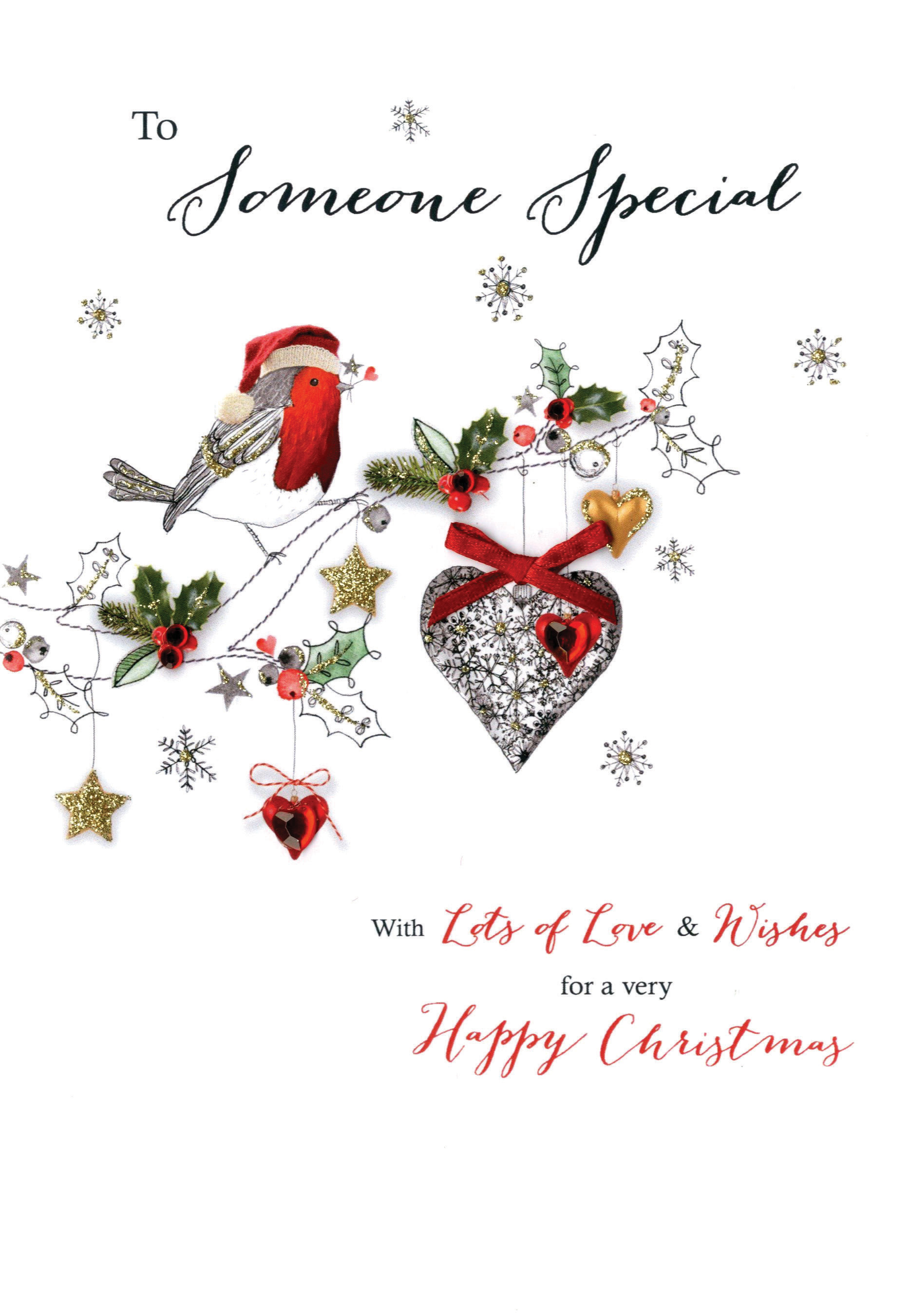 Someone Special Embellished Christmas Card