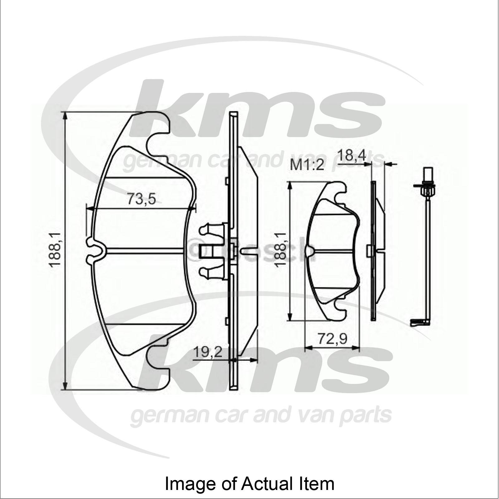 Brake Pad Set For Disc Brake Audi A4 Allroad 8kh B8 3 0