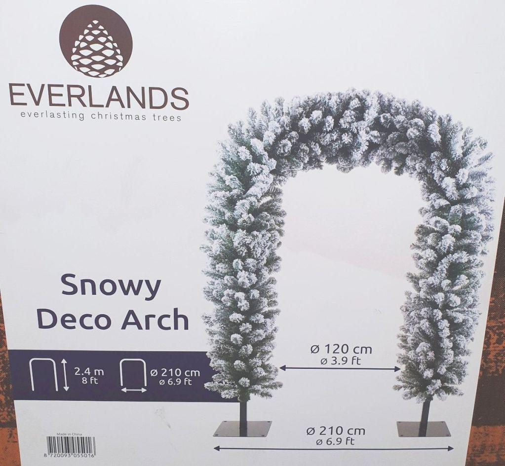 Everlands Snowy Deco Christmas Arch 240cm