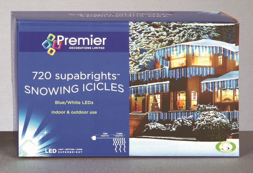 Premier Snowing Icicles 720 LED Warm White – LV081173WW