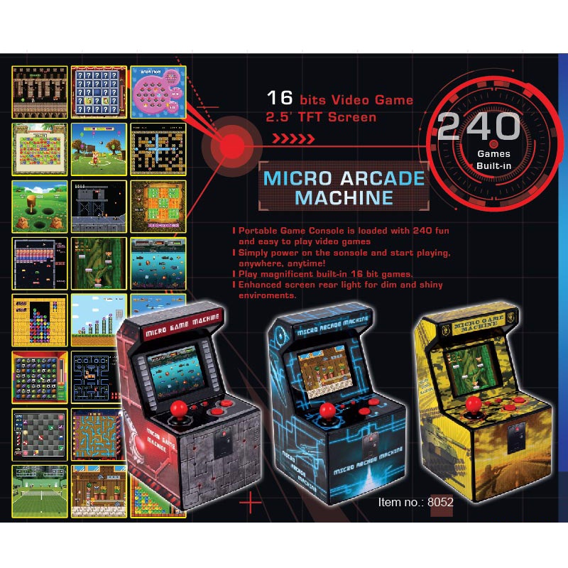 New Taikee Portable Arcade Machine With 240 Built In Games
