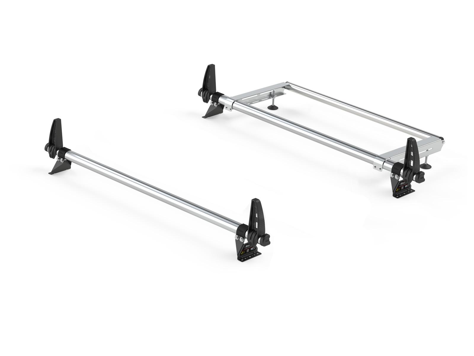 Rhino Delta 2 Bar Roof Bars Ladder Roller For Ford Transit