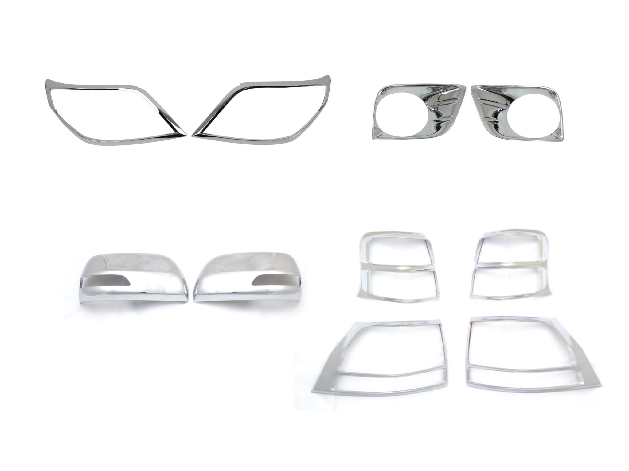 Complete Chromed Abs Plastic Trim Set For Toyota Land