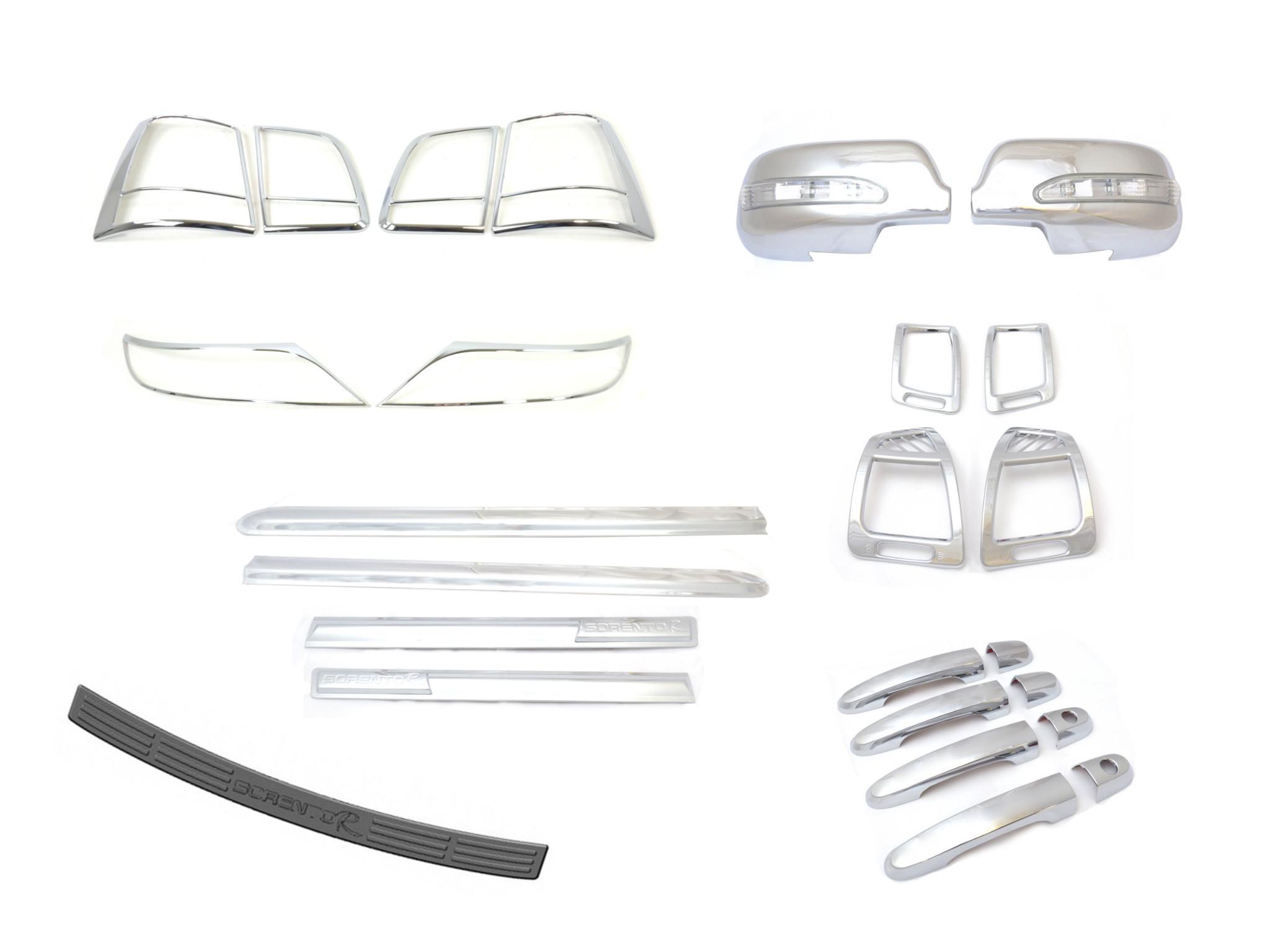 Kia Sorento Full Chromed Trim Kit Set Exterior