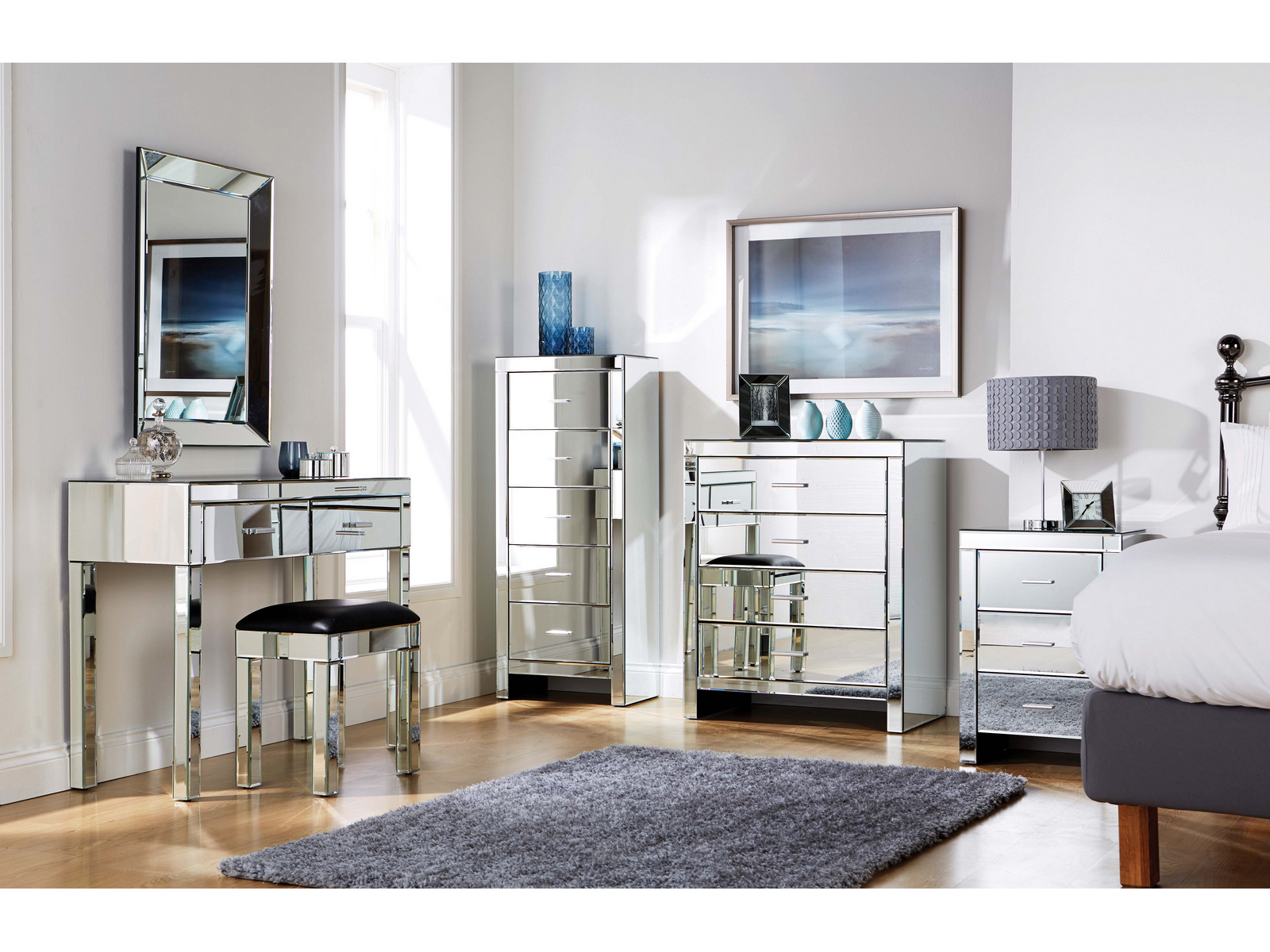 mirrored furniture bedroom collection