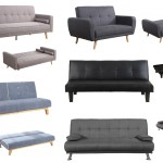 Birlea Fabric And Faux Leather Sofa Bed Collection Grey Black Brown Ebay