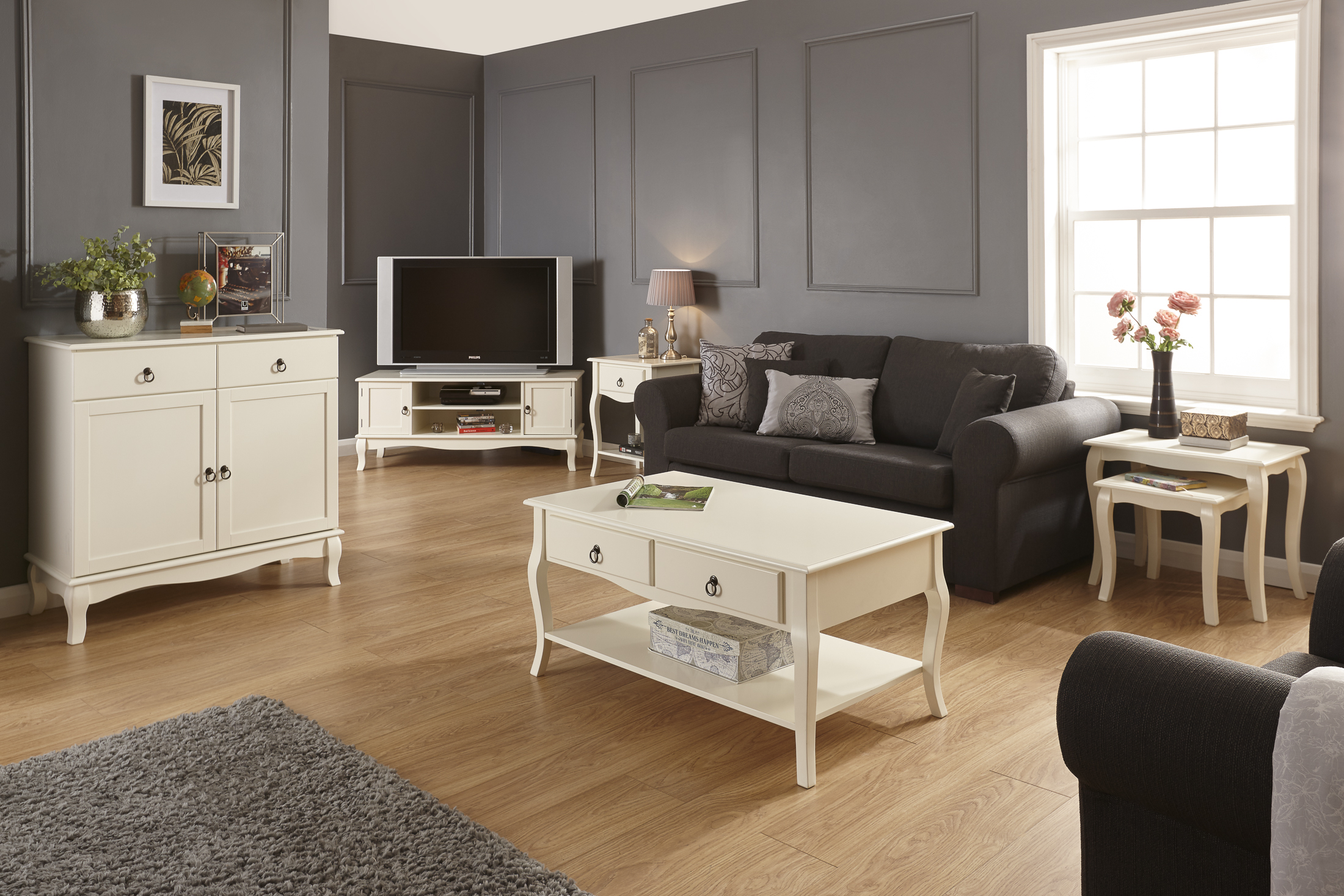 New Ivory Painted Living Room Furniture