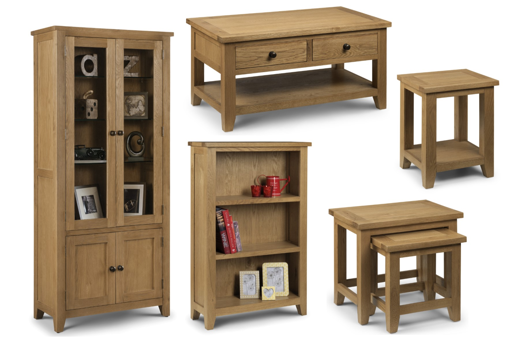 Details About Julian Bowen Astoria Solid Oak Furniture Chunky Table Tv Unit Sideboard Bookcase