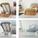 New Madrid Solid Wood Single Ottoman Storage Bed Oak Or White 3ft 90cm Ebay