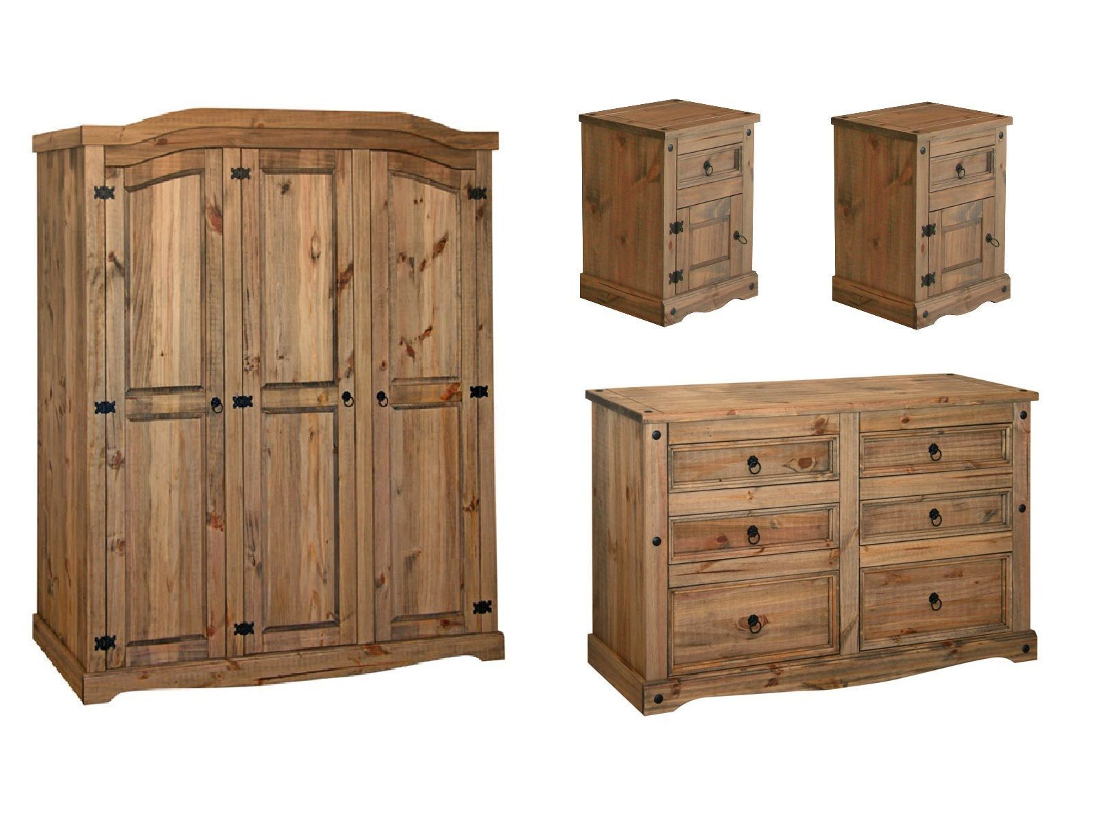 Premium Quality Corona Waxed Solid Mexican Pine Bedroom