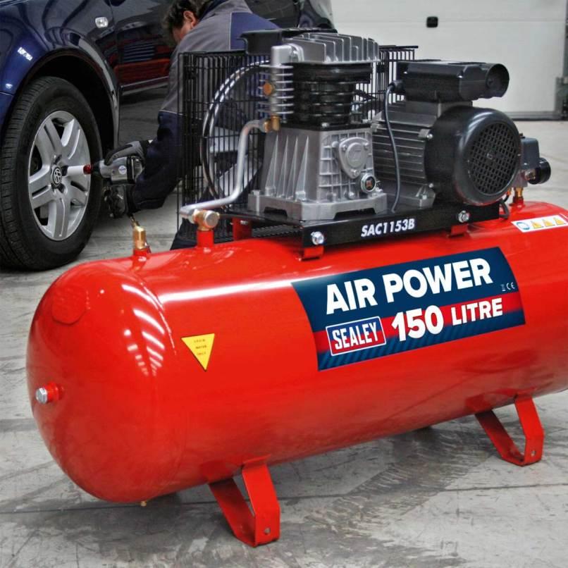 Sac1153b Air Compressor 150l Belt Drive