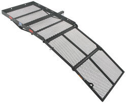 32x48 reese steel solo cargo carrier and folding ramp for 2 hitches 400 lbs