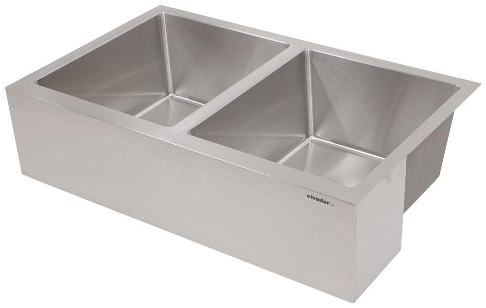 better bath double bowl rv kitchen sink