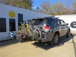 bike rack and cargo carrier combination