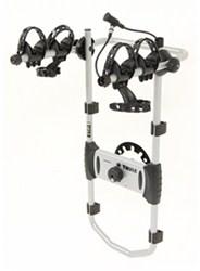 thule spare me 2 bike rack spare tire mount folding dual arms