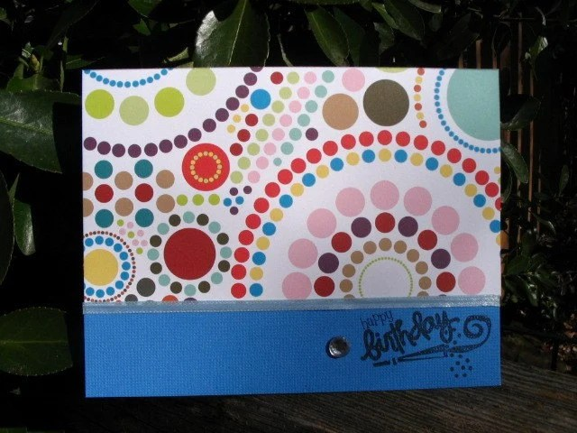 Colorful Circles Birthday Card
