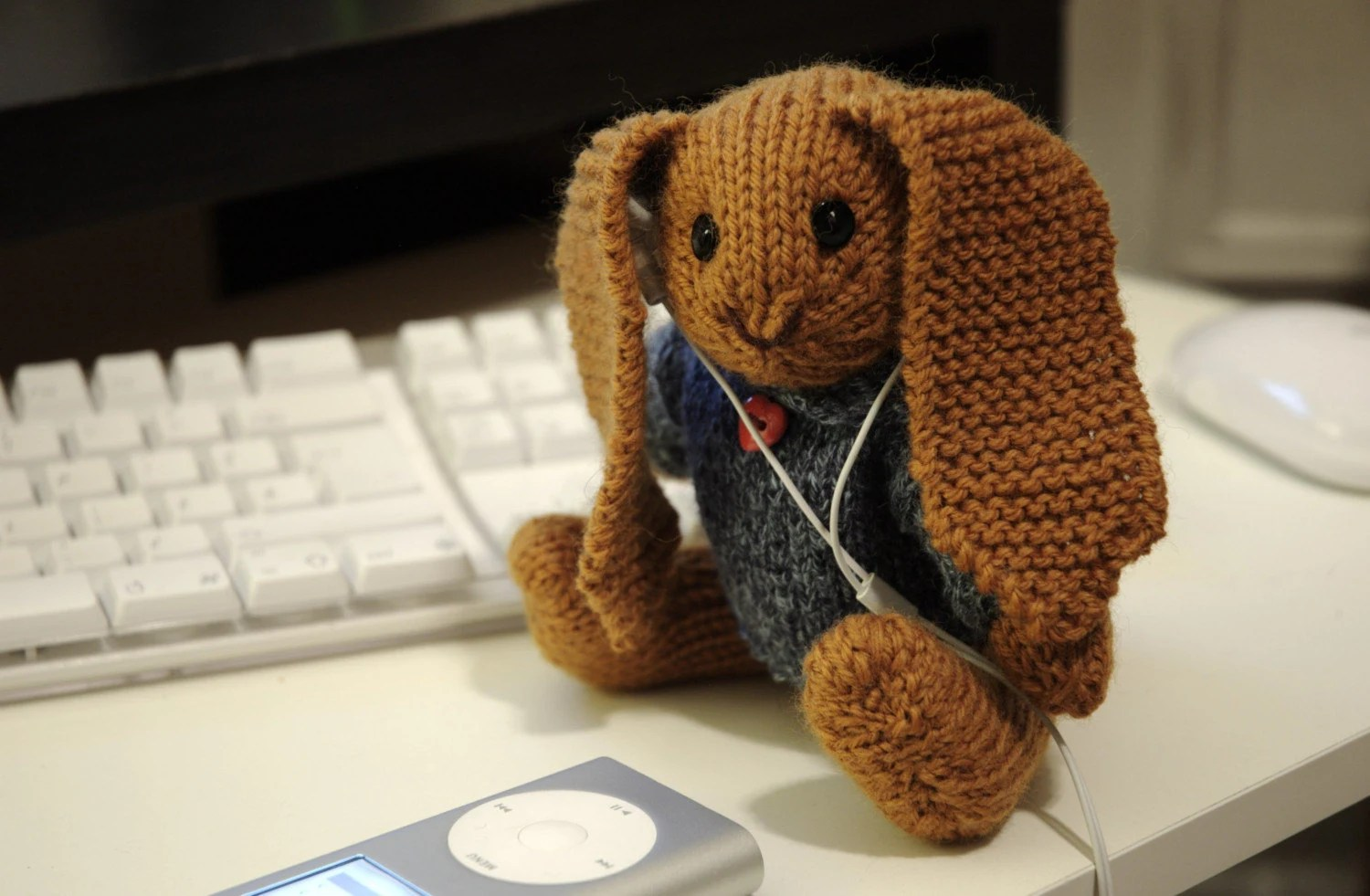 Knitting Pattern - Lop Eared Bunny