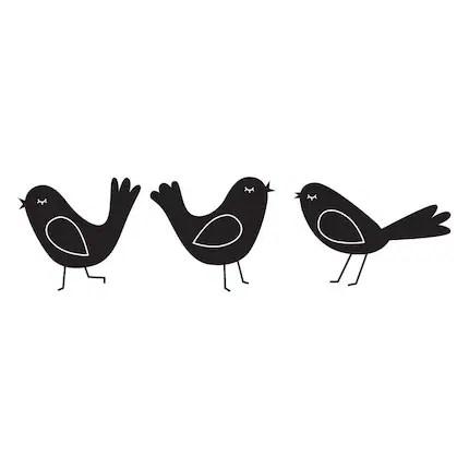 Three Birds Wall Decals
