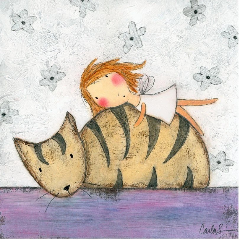 NEW - PRINT - Fairy on Tabby