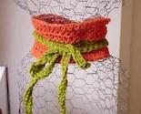 Pumpkin Scarflette with Avacado Tie