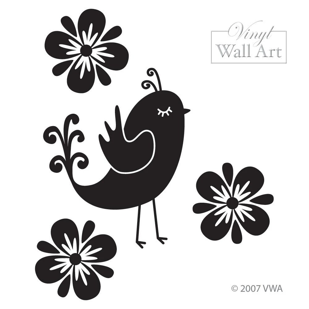 Wall Art Quail and Flowers