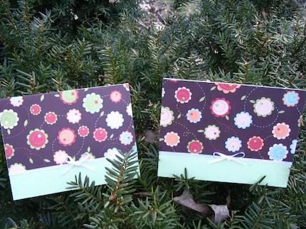 Blank Brown Flower Cards