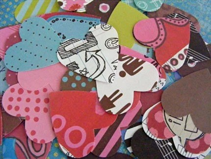80 Plump Elsie Love Paper Hearts
