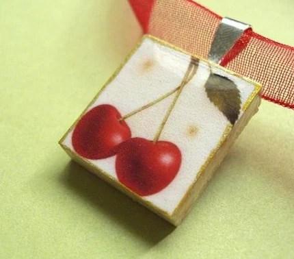 Cherry--VIntage Pendant