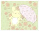 Umbrella Bunny 8 x 10 Matte or Glossy Photo Finish Poster
