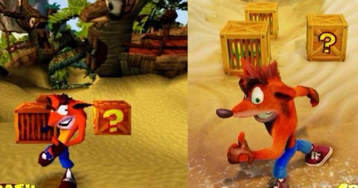 Watch See How The Crash Bandicoot Remaster Holds Up To