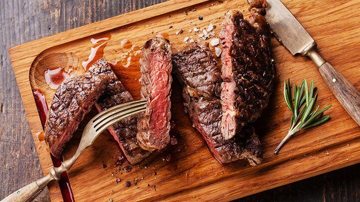 sliced beef, which can be a good food for people with depression