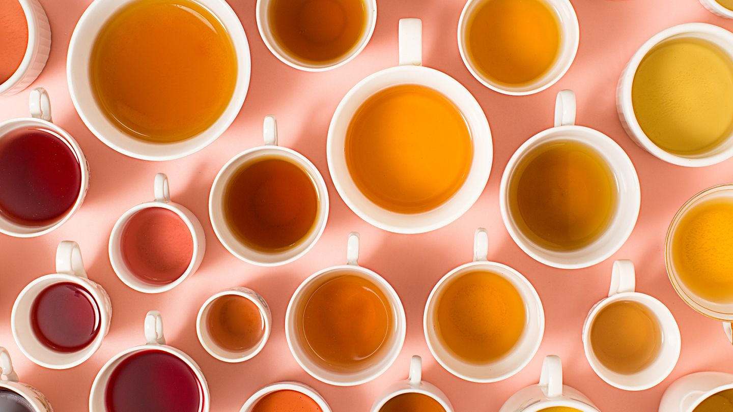 a variety of teas from above