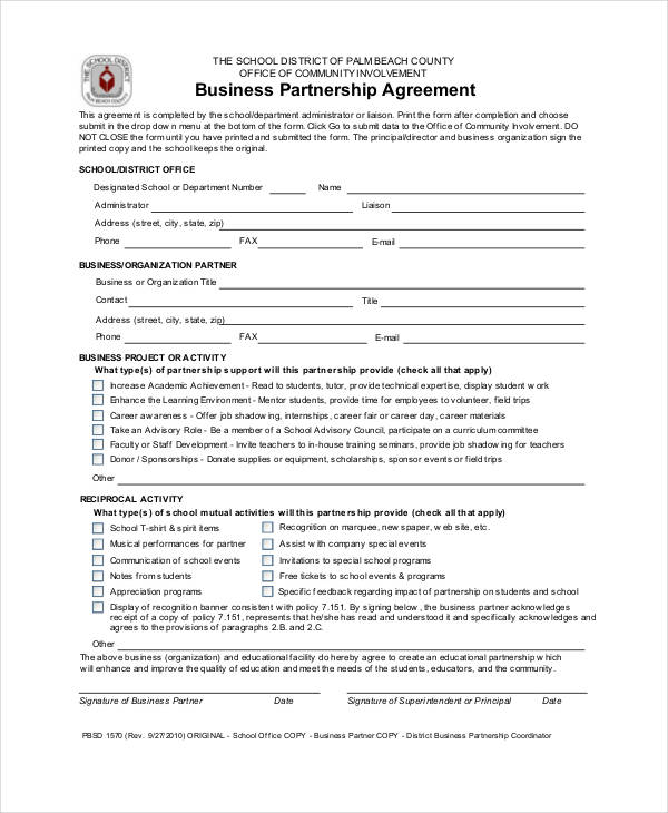FREE 54 Business Agreement Examples In PDF Google Docs Pages DOC Examples