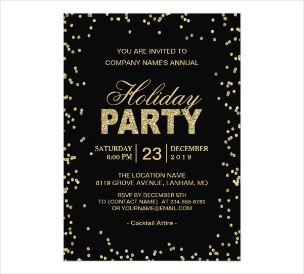 Holiday Invitation Examples  CogimboUs