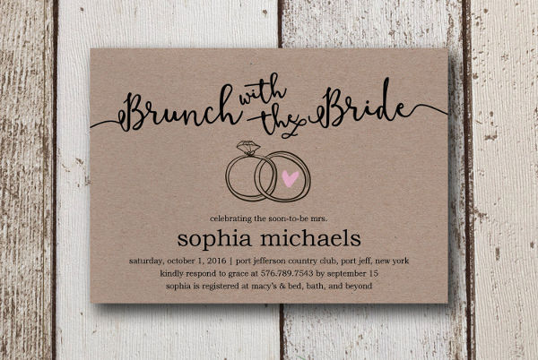 Diy Printable Bridal Shower Invitation