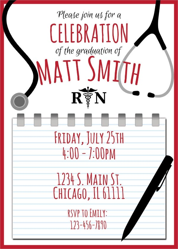 Personalized Graduation Open House Invitations