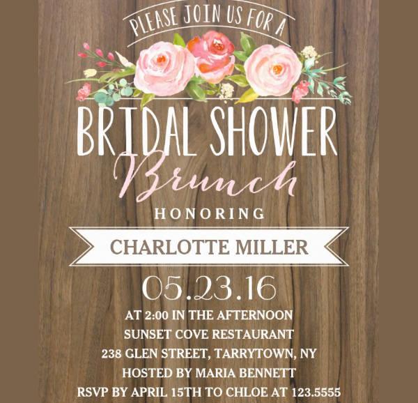 Printable Bridal Shower Brunch Invitation
