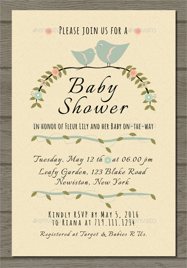 Baby Shower Invitations Examples
