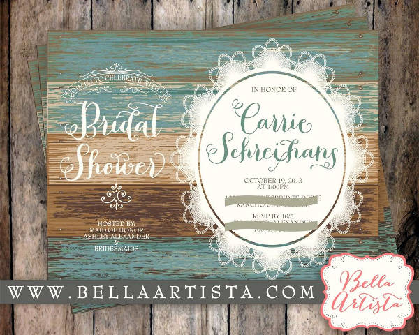 Bridal Shower Invitations Disney