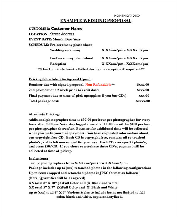 14 Photography Proposal Examples Pdf Doc Psd Ai Pages